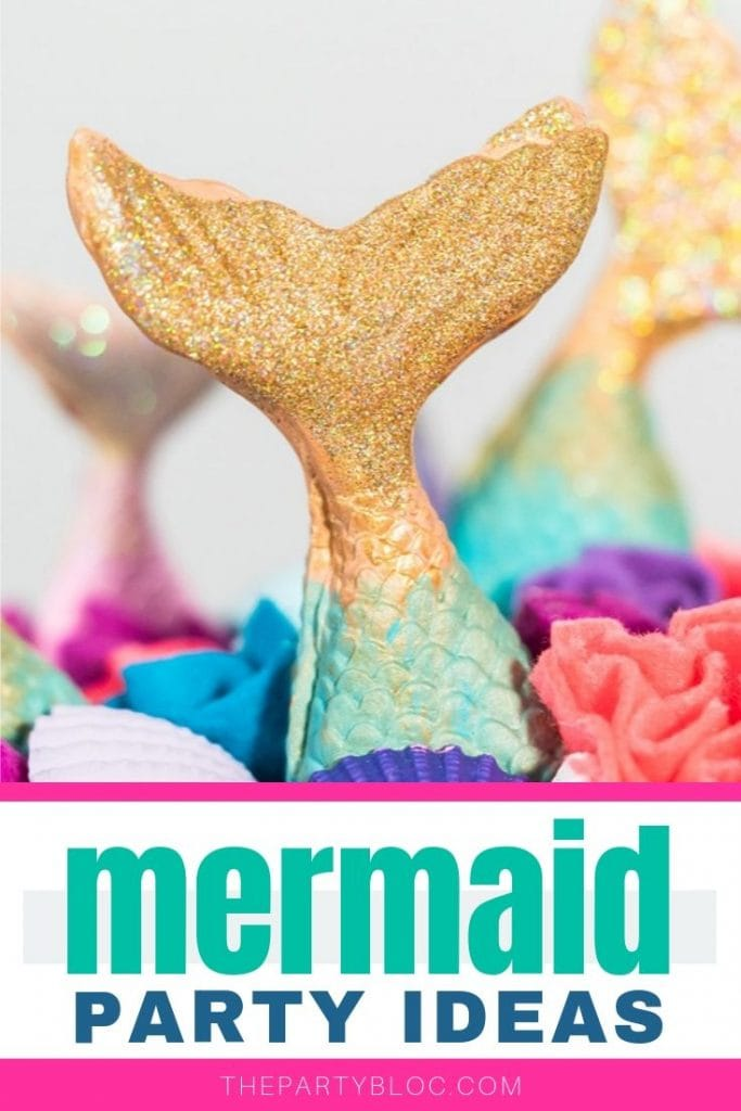 If you're looking for great ideas for throwing a magical mermaid party, look no further. I've put together a bunch of perfect party ideas to help you plan a splashtastic mermaid birthday party. I've got you covered, from the decorations, food and drink, to the games, activities, party favors and goodie bags. Click for 35 amazing mermaid birthday party ideas! #kidsparty #partyideas #mermaidparty #mermaids