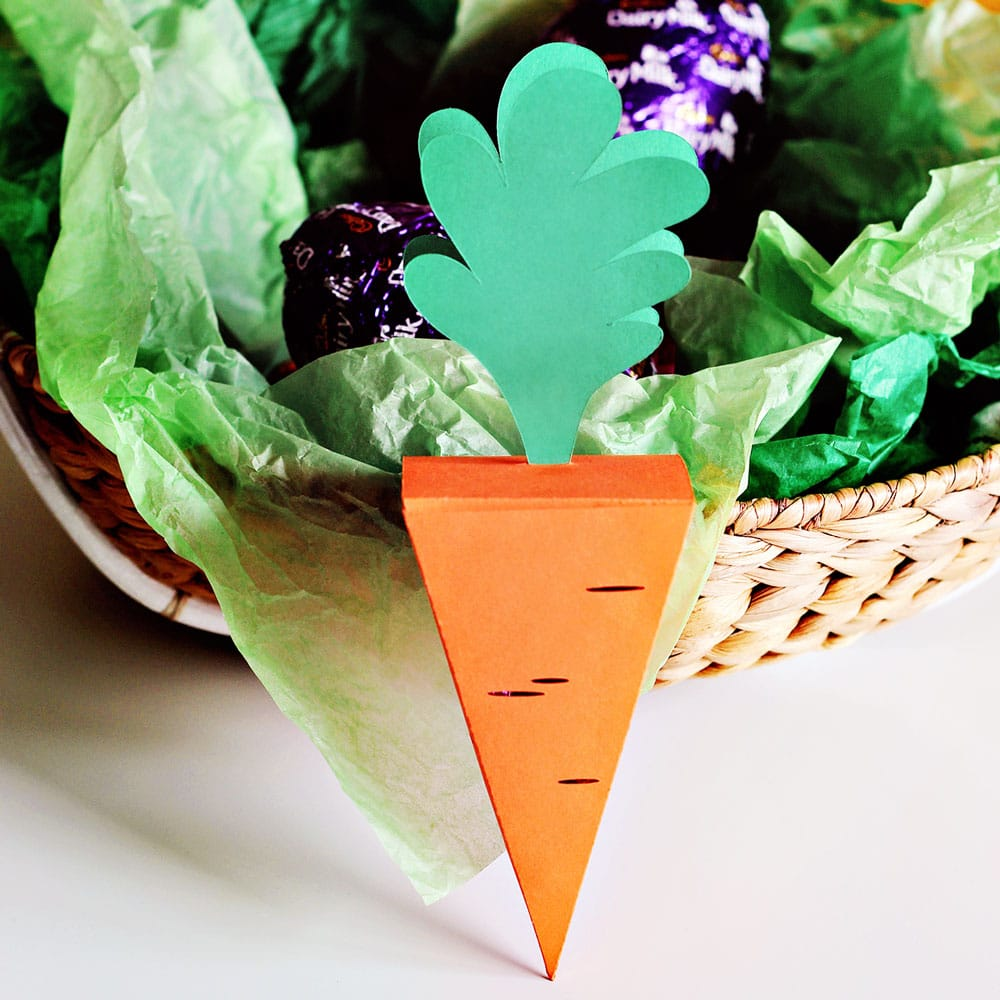 DIY Carrot Treat Box Standing up
