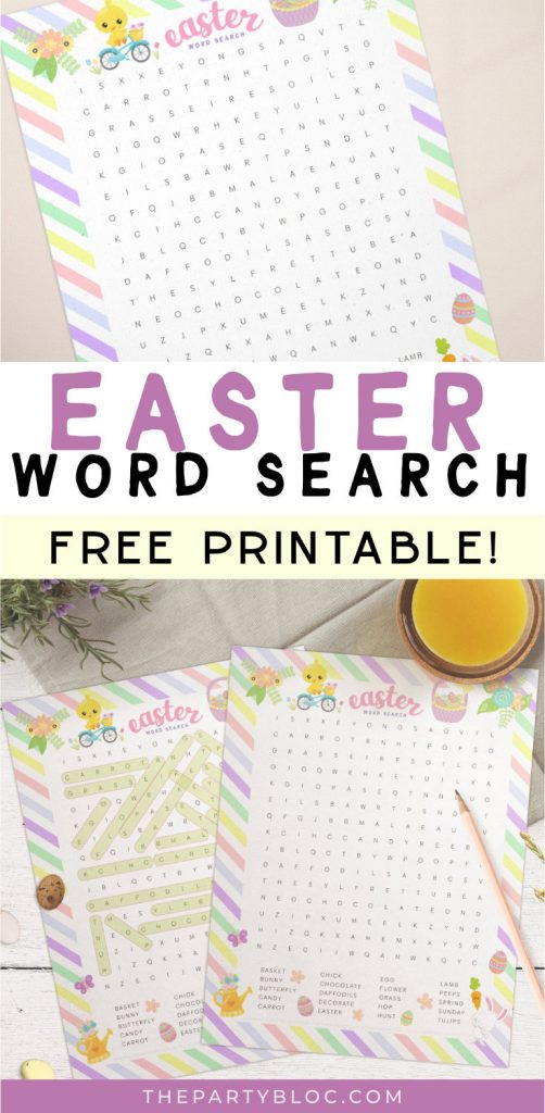printable Easter word search pin