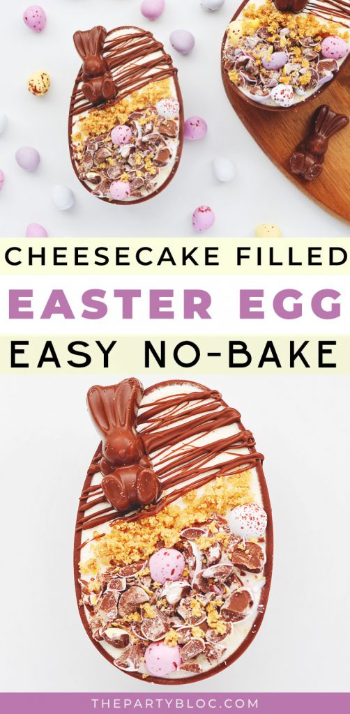 Easy, no-bake cheesecake filled Easter egg recipe