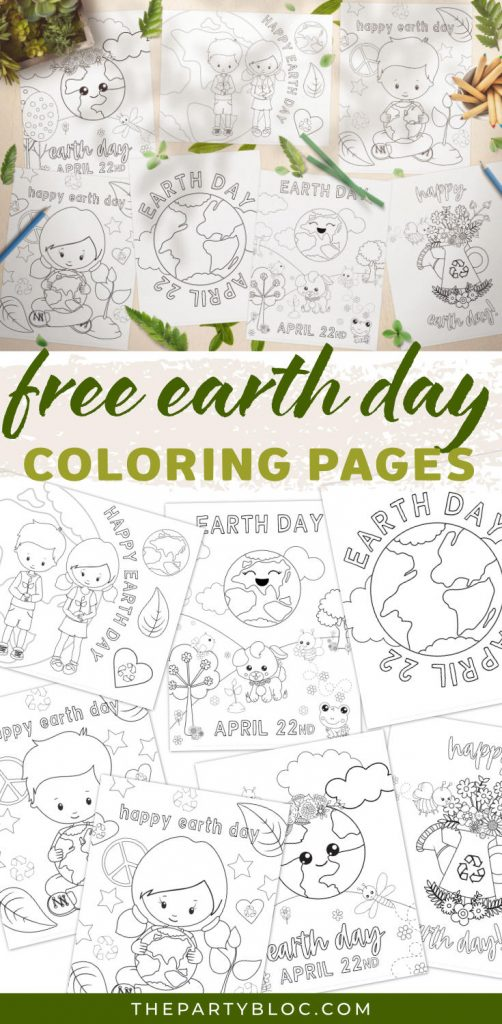 Free Earth Day Coloring Pages
