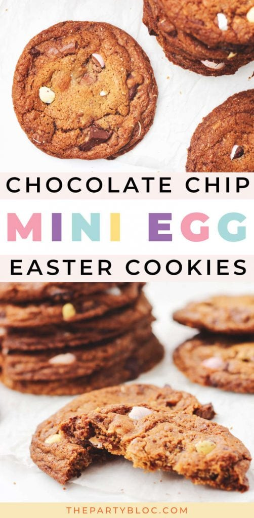 Chocolate Chip Mini Egg Cookies for Easter
